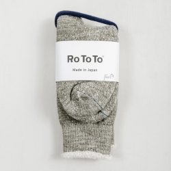 RoToTo Double Face Socks Green Medium Beige